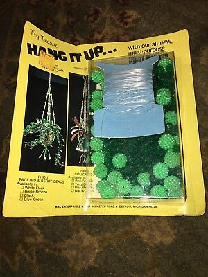 Vintage Tiny Treasure Macrame Style Hang It Up Beaded Plant Hanger DIY Craft Kit - Macrame Plant Hanger Diy