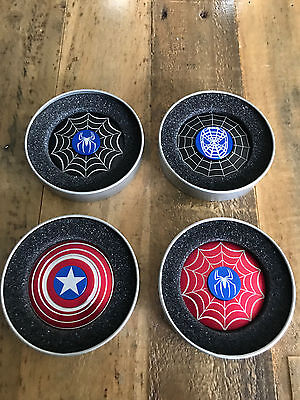 Captain America Shield  Spider Man Fidget Spinner Hand Kids Toys Focus Adhd Edc