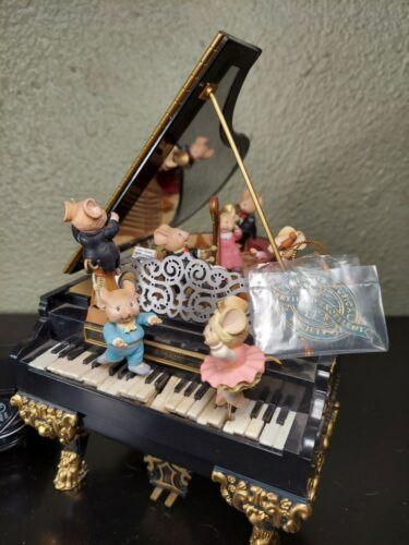 RARE Vintage 1991 Enesco The Grand Piano Action Musical Mice-Tro Polonaise