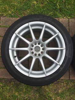 "18"" PDW Oasis Wheels & Tyres 5x108 5x112 Focus Merc Vw Audi Peugeot  Greensborough Banyule Area Preview"