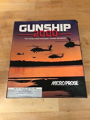 Commodore Amiga Game Gunship 2000. Boxed.