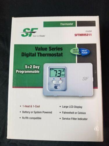 Trane OEM SF Thermostat  model sfthrv5211   5+2 programmable