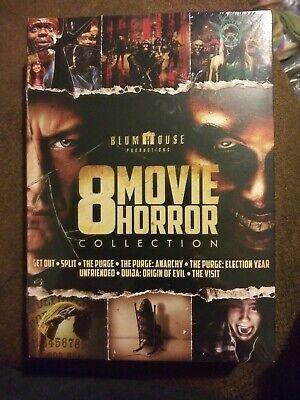 BlumHouse 8 Movie Horror Collection: Purge 1,2,3, Split, Ouija++ (DVD, 2017) NIB - Halloween Film 2017