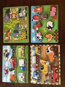 4 wooden puzzles $20