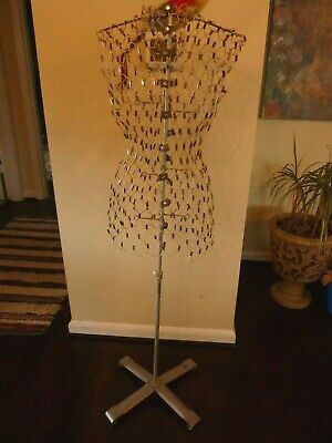 Vintage My Double- Dress Form - Metal Wire Wstand