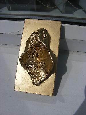 EROTIC ART Sculpture,   Detailed Female Pussie/Clitoris. Unique.Gold finish
