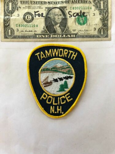 Tamworth New Hampshire Police Patch un-sewn in mint shape