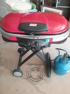 Coleman portable bbq with gas bottle Tocumwal Berrigan Area Preview
