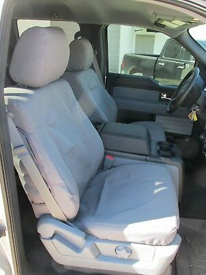 2011-2013 Ford F250-F550, XLT & Lariat, Exact Fit Car Seat Covers in Gray Twill