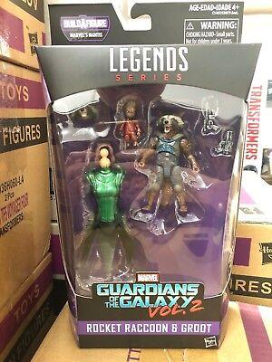 Hasbro Marvel Guardians of the Galaxy Legends Rocket Raccoon & Groot 6Inch