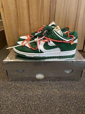 Off-White X Nike SB Dunk Low Pine Green UK 8 (check description)