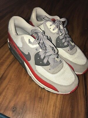 Fresh Nike Air Max 90 Size 6.5 boys/girls Red White And (Nike Air Max 90 Red And Grey)