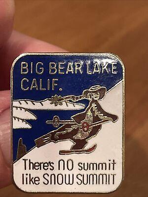 """Vintage Big Bear Lake California """" Theres No Summit Like Snow Summit """" Ski Pin"""