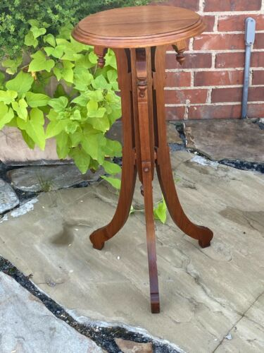 "Antique Victorian Eastlake Oak 27""  Plant Stand / Side Table American Furniture"