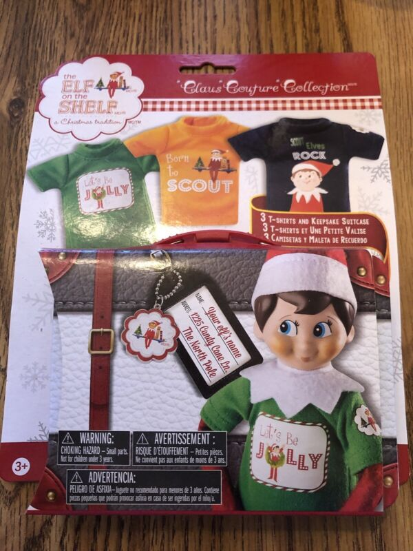 The Elf On The Shelf Claus Couture Born To Scout Tees With Keepsake Suitcase