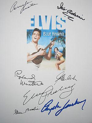 Blue Hawaii Signed Movie Script X7 Elvis Presley Angela Lansbury Winters reprint