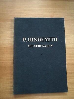 Noten. Hindemith. Die Serenaden op. 35. Partitur.