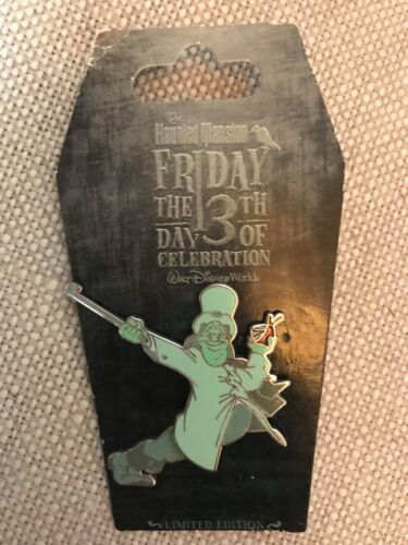 DISNEY PIN HAUNTED MANSION FRIDAY THE 13TH CELEBRATION LE 1500 DRINKING GHOST