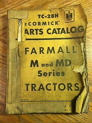 Ihc Mccormick Farmall M Md Series Tractors Parts Catalog Manual 1957