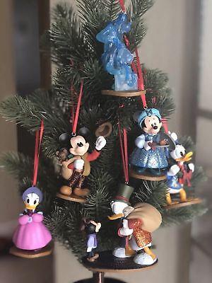 DISNEY CHRISTMAS CAROL CHRISTMAS ORNAMENTS set  6, SCROOGE & GANG.DONALD,