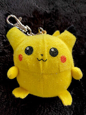Nintendo Pokemon Pikachu Plush Tiger Game Key chain Clip-on With Sound