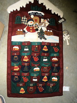 NEW Holiday Elegance advent calendar snowman with mittens SO CUTE