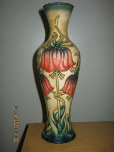 RARE MOORCROFT  VASE * CROWN IMPERIAL * RACHAEL BISHOP * MUST SEE **