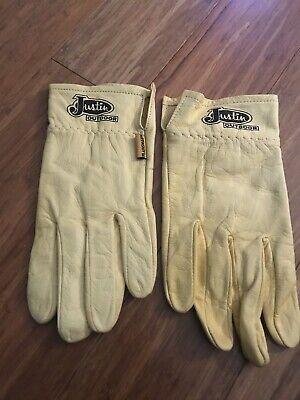 Justin Outdoor Work Gloves Genuine Cabretta Leather Size Med