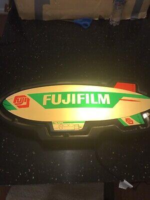VINTAGE FUJI FILM Fujifilm Light Up Blimp Sign 27x11