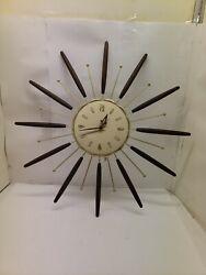 Vintage Mid Century Atomic Starburst clock Lux