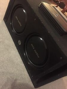 "^** 12"" MTX SUBWOOFERS BASSWORX PORTED BOX ALPINE AMP"