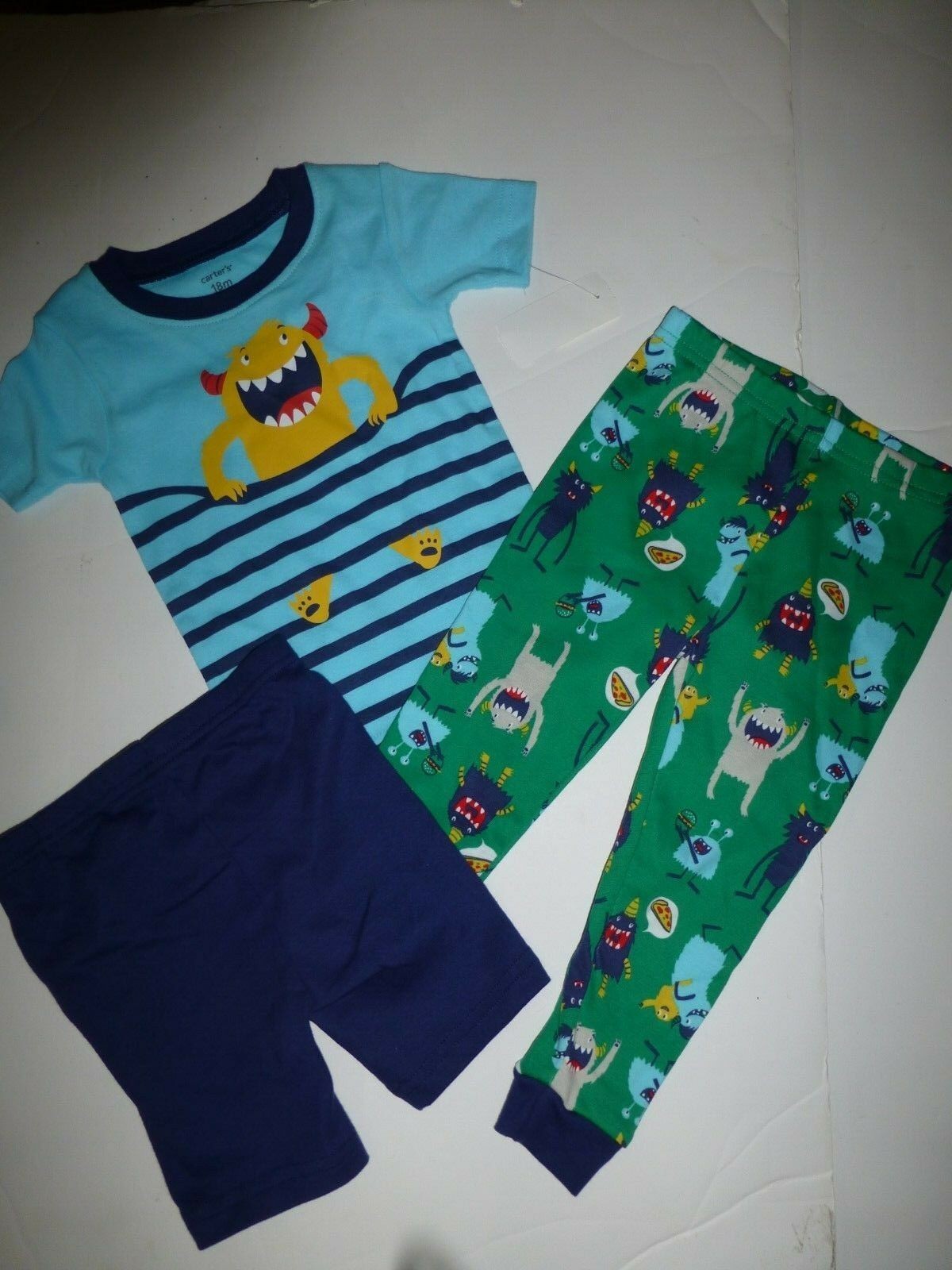 b80bb84aba7f Carters 174 Toddler Boys 3-piece Monster Truck Pajamas