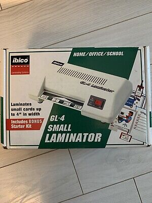 Ibico Gl-4 Small Desktop Laminator Photo Id Business Card Laminator 4x6 Wbox