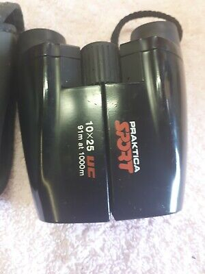 PRACTICA BINOCULARS 10X25UC 91M AT 1000M USED WITH CASE