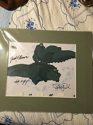 1994 (Disney?) the swan princess animation cel signed by producers and COA