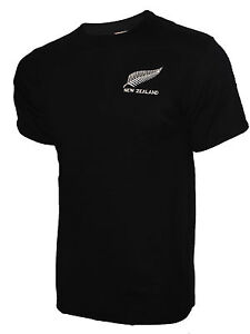 New Zealand Style Kiwi All Blacks Rugby Shirt Mens Long Sleeve New