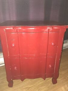 Red Night Stand For Sale!
