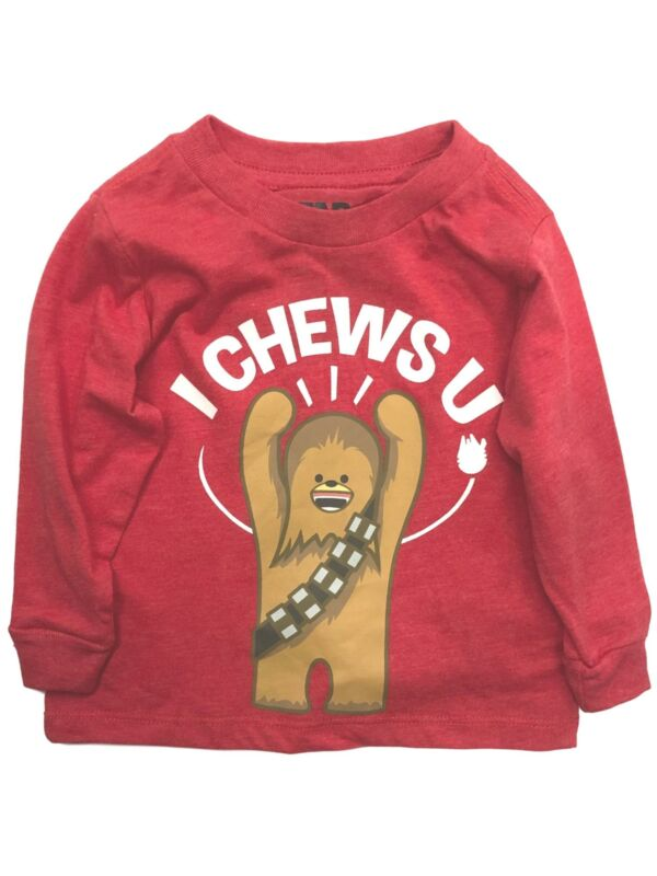 Star Wars Infant & Toddler Boys I Chews U Valentine Day Chewbacca T-Shirt