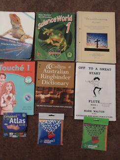 Various Year 7,8,9,10,11,12 TEXTBOOKS
