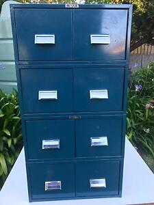 Vintage Industrial Metal File Drawers Collinswood Prospect Area Preview