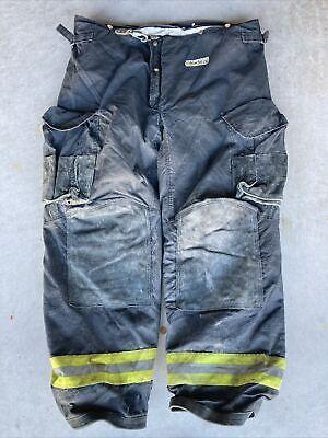Firefighter Janesville Lion Apparel Turnout Bunker Pants 46x34 Black Costume 08