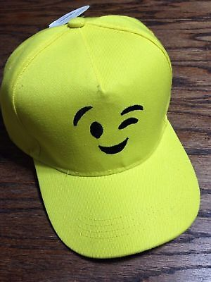 Wink Emoji Snapback Adjustable Baseball Cap Yellow Hat NWT](Emoji Wink)