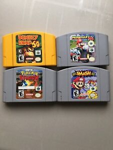N64 Games RARE - MARIO KART, SUPER SMASH BROS, DK, POKEMON