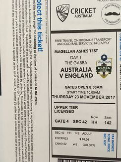 Ashes Gabba Tickets day 1