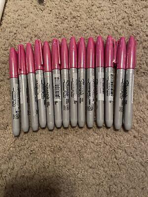 Lot Of 14 Sharpie Burst Permanent Marker Fine Point Pink 1948356 New Sealed