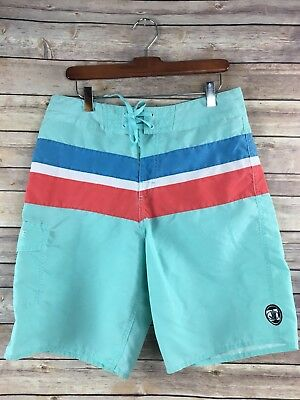 2817f2cbfa Body Glove Board Shorts 32 Mens Drawstring Unlined Blue Pastel Bathing Suit