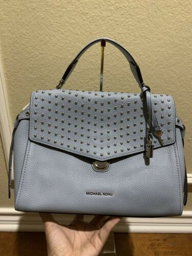 Michael Kors Bristol Studded Satchel Purse / Handbag $368, B