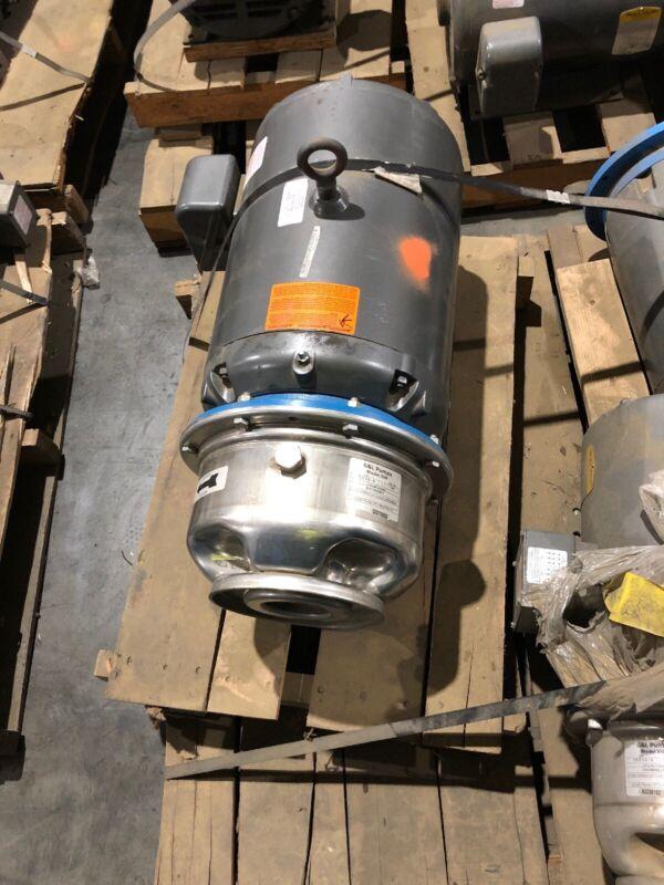 G&L Pump Model SSH 8SH1N2B0VT with Baldor Motor JMM2514T-S 230/460 Vca 49/24.5 A