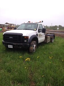 Ford f550 with. Kargo king roll off bed