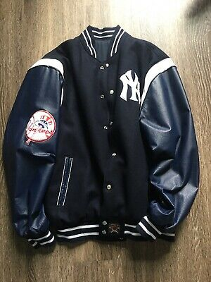 VTG Reversible Baseball Merchandise JH Design New York Yankees Varsity Jacket XL